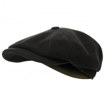 Stetson Wool Black Newsboy Cap 6840101 32