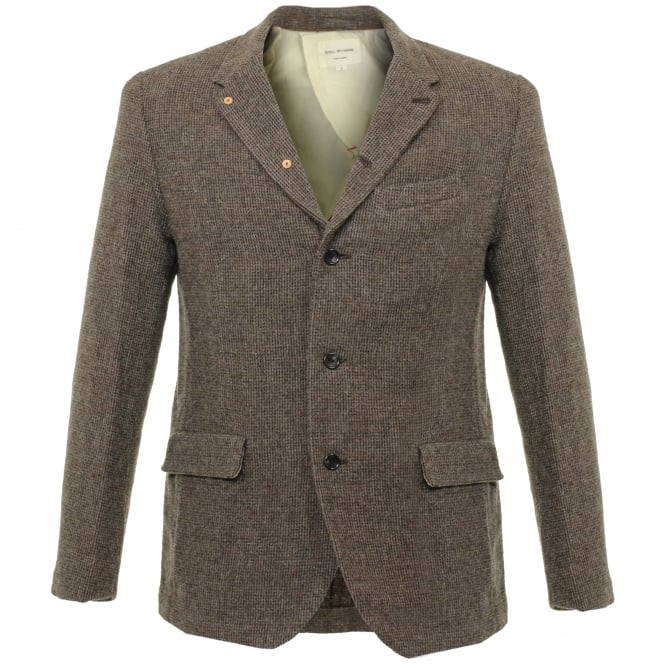 Still By Hand Mocca Wool Blazer JK0363OS