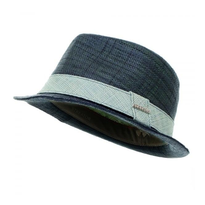 Stetson Hats Streator Raffia Hat- Navy