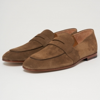 Suede Safari Loafer - Brown