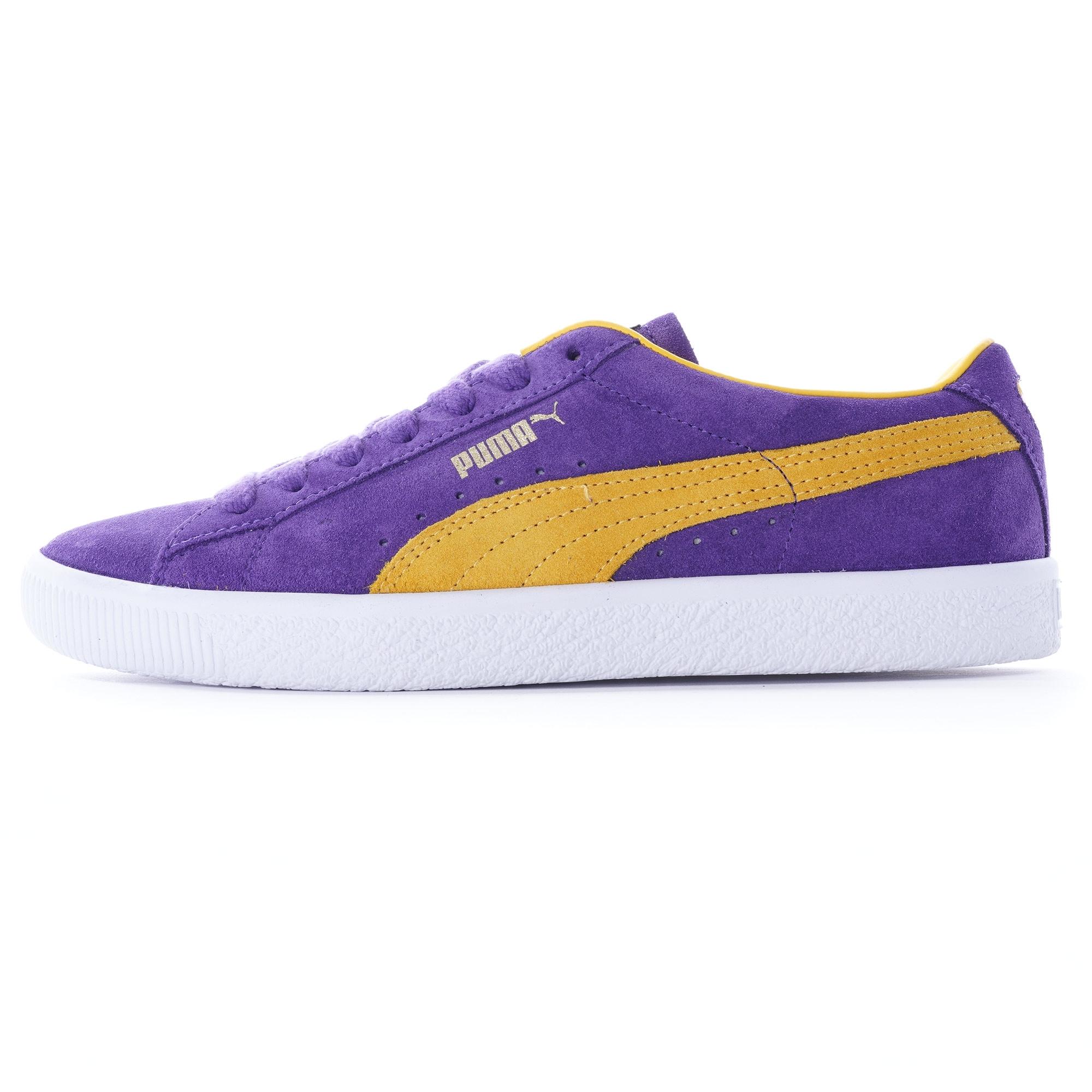 Puma Suede VTG - Purple/Yellow
