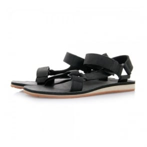 Teva Original Universal Black Leather Sandals 1006315