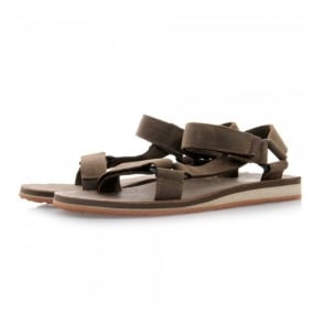 Teva Original Universal Dark Earth Leather Sandals 1006315