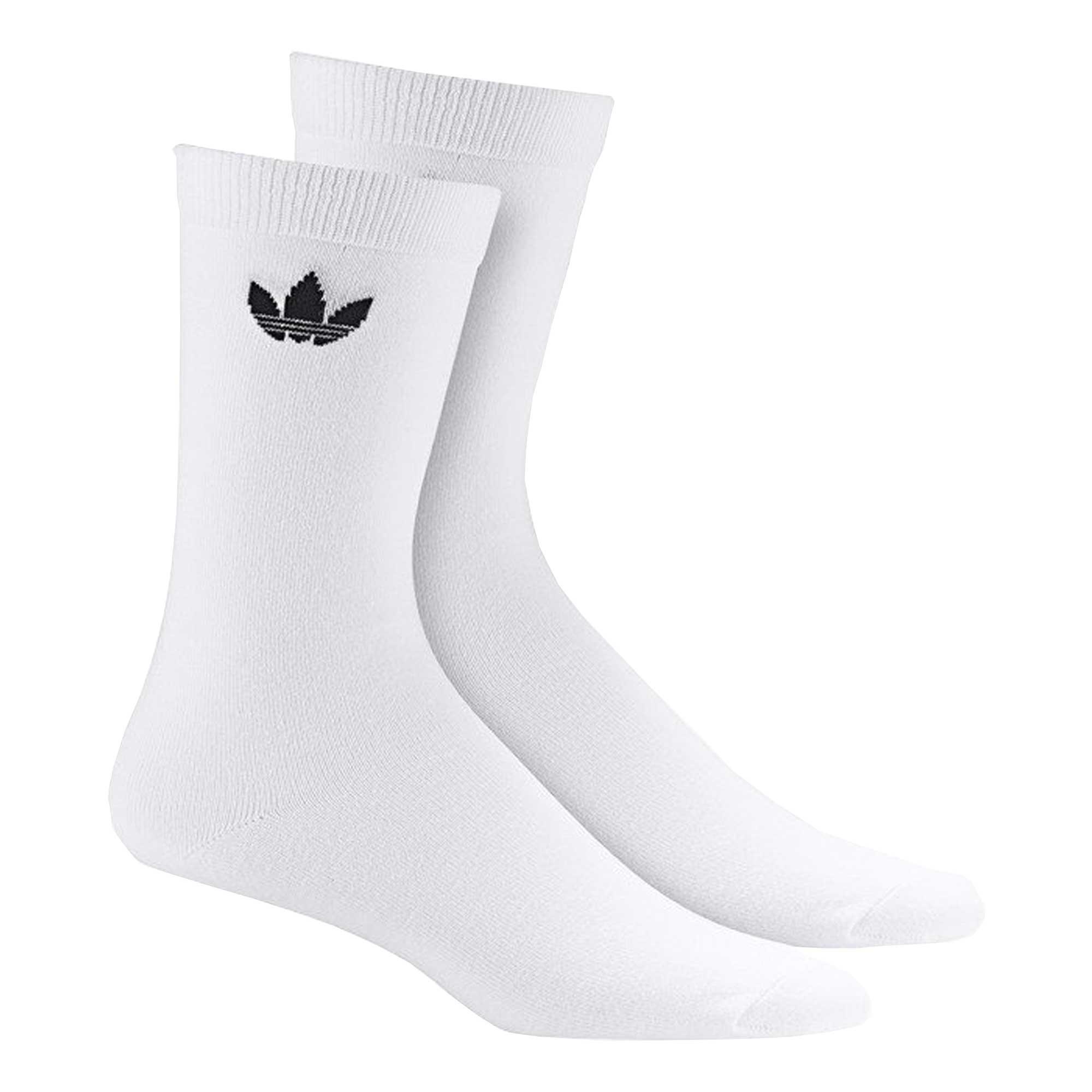 Adidas Originals Thin Trefoil Crew Socks 2 Pairs - White