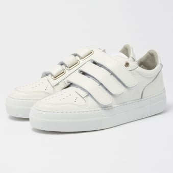 Three Strap Sneakers - White