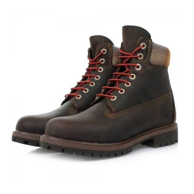 Timberland x Pendleton 6 Inch Premium Brown Leather Boots 9640B