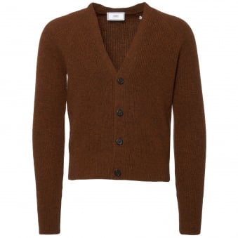Tobacco Fisherman Knit Cardigan