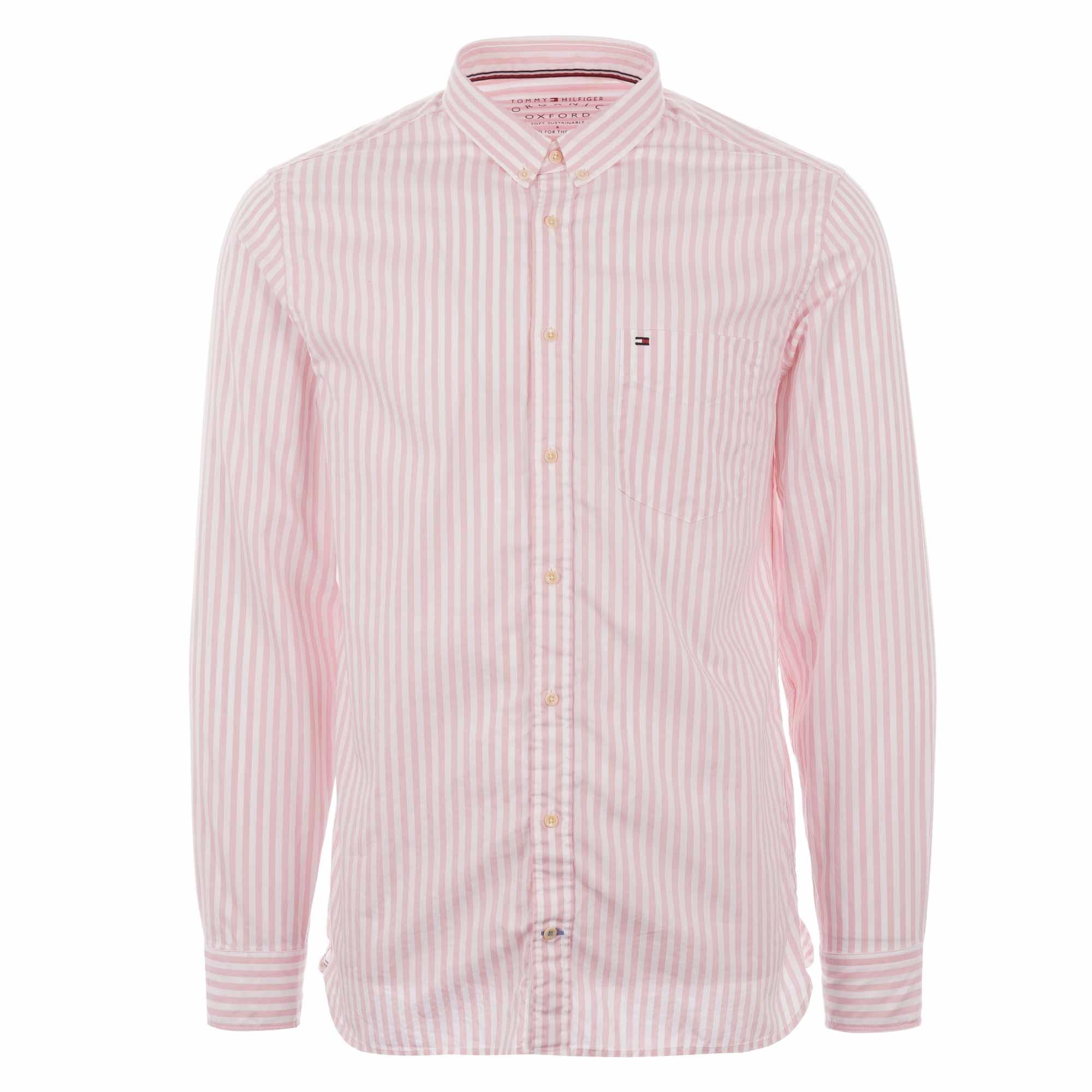 Striped Oxford Shirt Coral