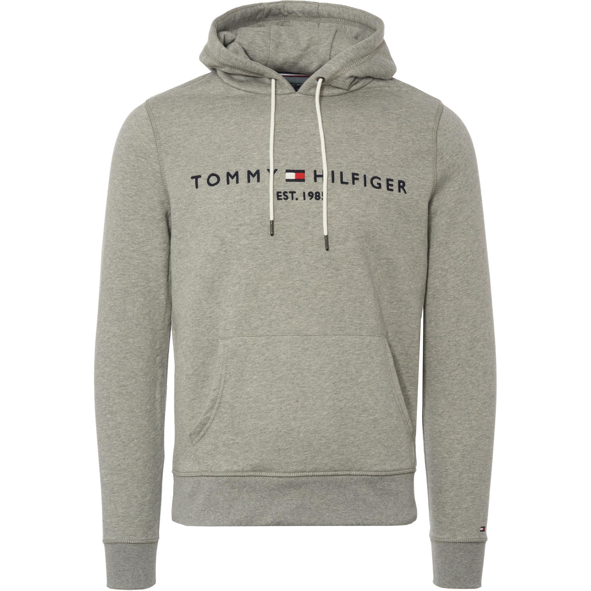 Tommy Logo Hoodie Grey