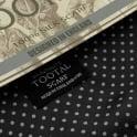 Tootal Vintage Black Polka Dot Silk Scarf TL3805 026