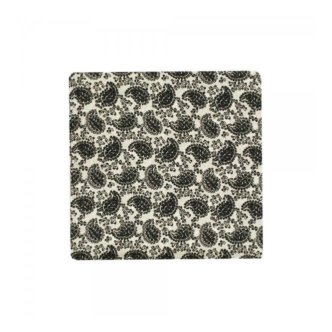 Tootal Vintage Paisley Ivory Pocket Square Handkerchief
