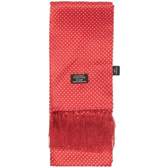 Tootal Vintage Polka Dot Red Scarf TL3805
