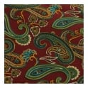 Tootal Vintage Red Paisley Silk Scarf TL7913