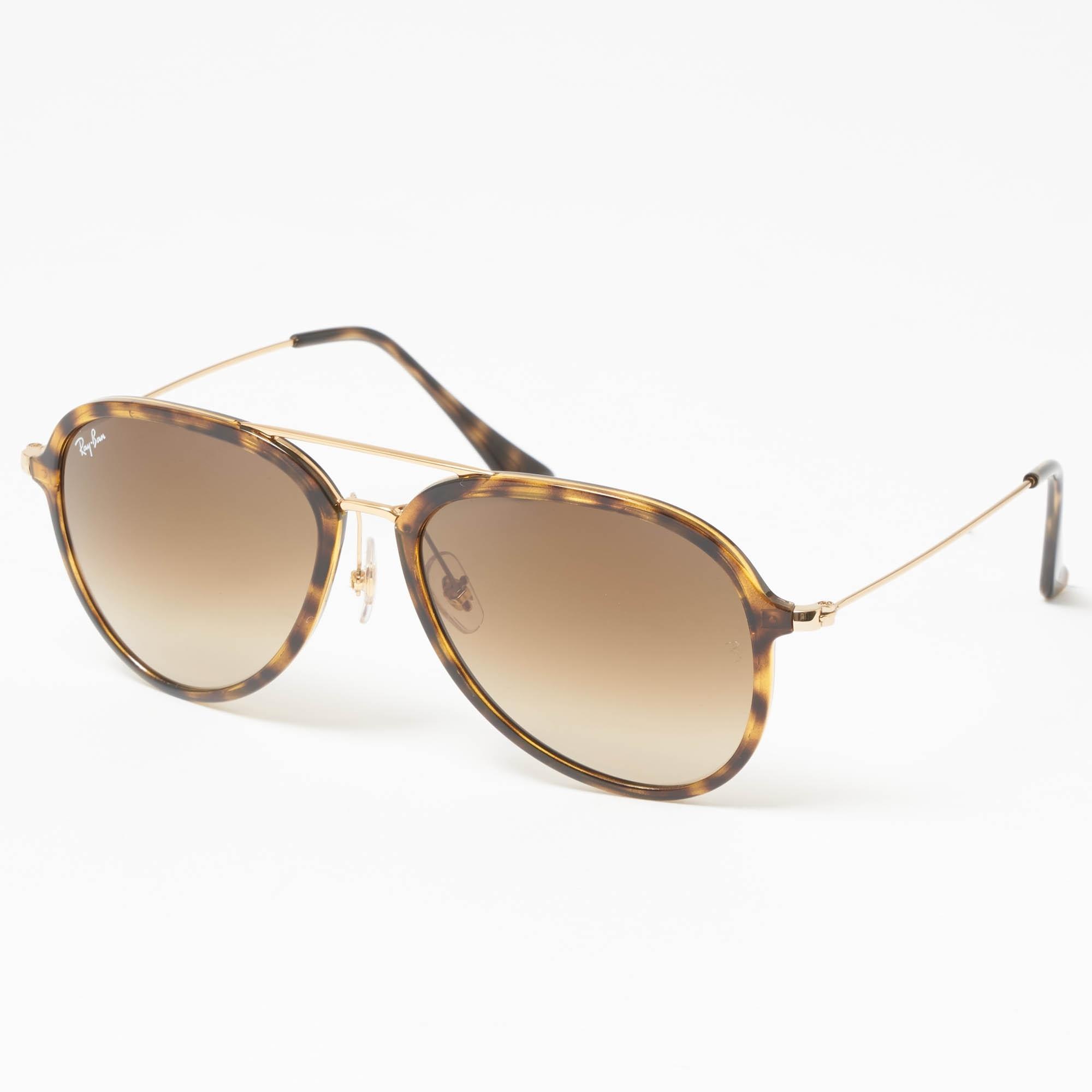 bc946a82543 Tortoise RB4298 Sunglasses - Light Brown Gradient Lenses