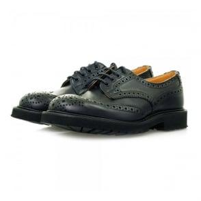 Trickers X Stuarts London Derby Brogue Navy Shoes M7794