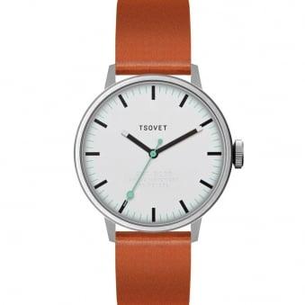 Tsovet SVT-SC38 White Tan Watch SC111513-40