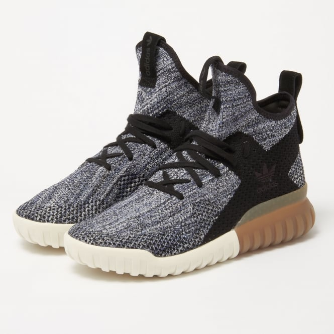 Adidas Originals Tubular X Primeknit Black | Blue Trainers BY3145