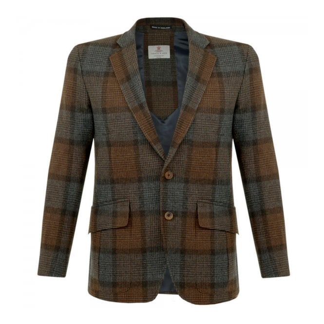 DEADSTOCK Turnbull & Asser Ashby Wool Brown Check Blazer MBLZ004