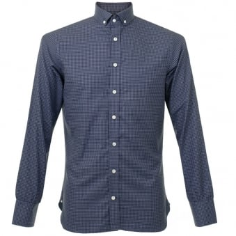 Turnbull & Asser Informalist Fine Check Navy Shirt W5640