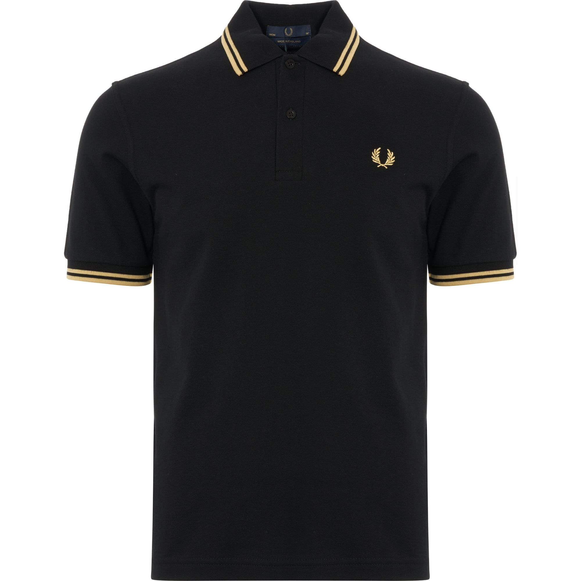 great quality Discover greatvarieties Twin Tipped Polo Shirt - Black & Gold