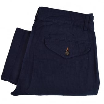 universal Works Aston Panama Navy Trousers 14512