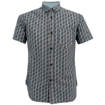 Universal Works Bacal Chambray Ecro Shirt 10155