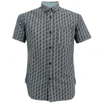 Universal Works Bacal Chambray Ecro Shirt 10155