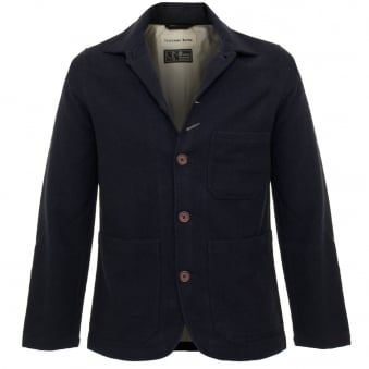 Universal Works Chore Wool Twill Navy Jacket 15123