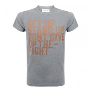 Universal Works Get Up Print Tee Grey Jersey T-Shirt