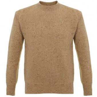 Universal Works Loose Fisherman Fleck Taupe Jumper 15536