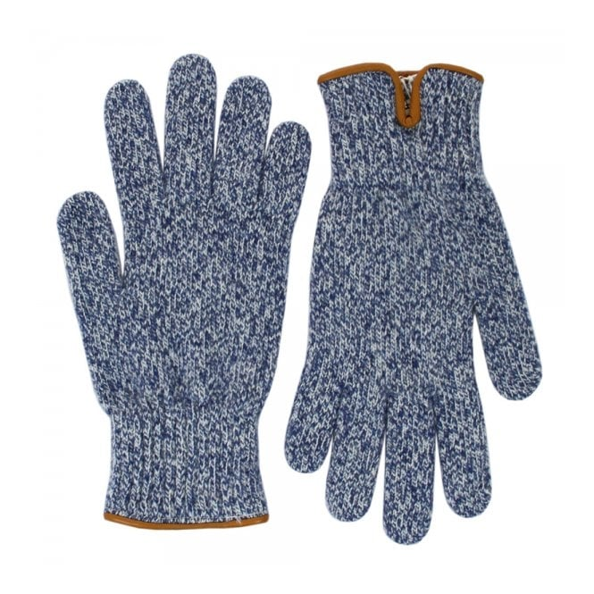 Universal Works Peak Wool Navy Gloves 11551