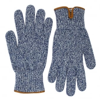 Universal Works Peak Wool Navy Gloves 11551