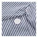 Universal Works Point Collar Fine Stripe Blue Shirt 15662