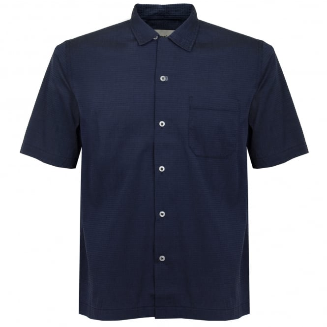 Universal Works Roads Mambo Navy Shirt 16655