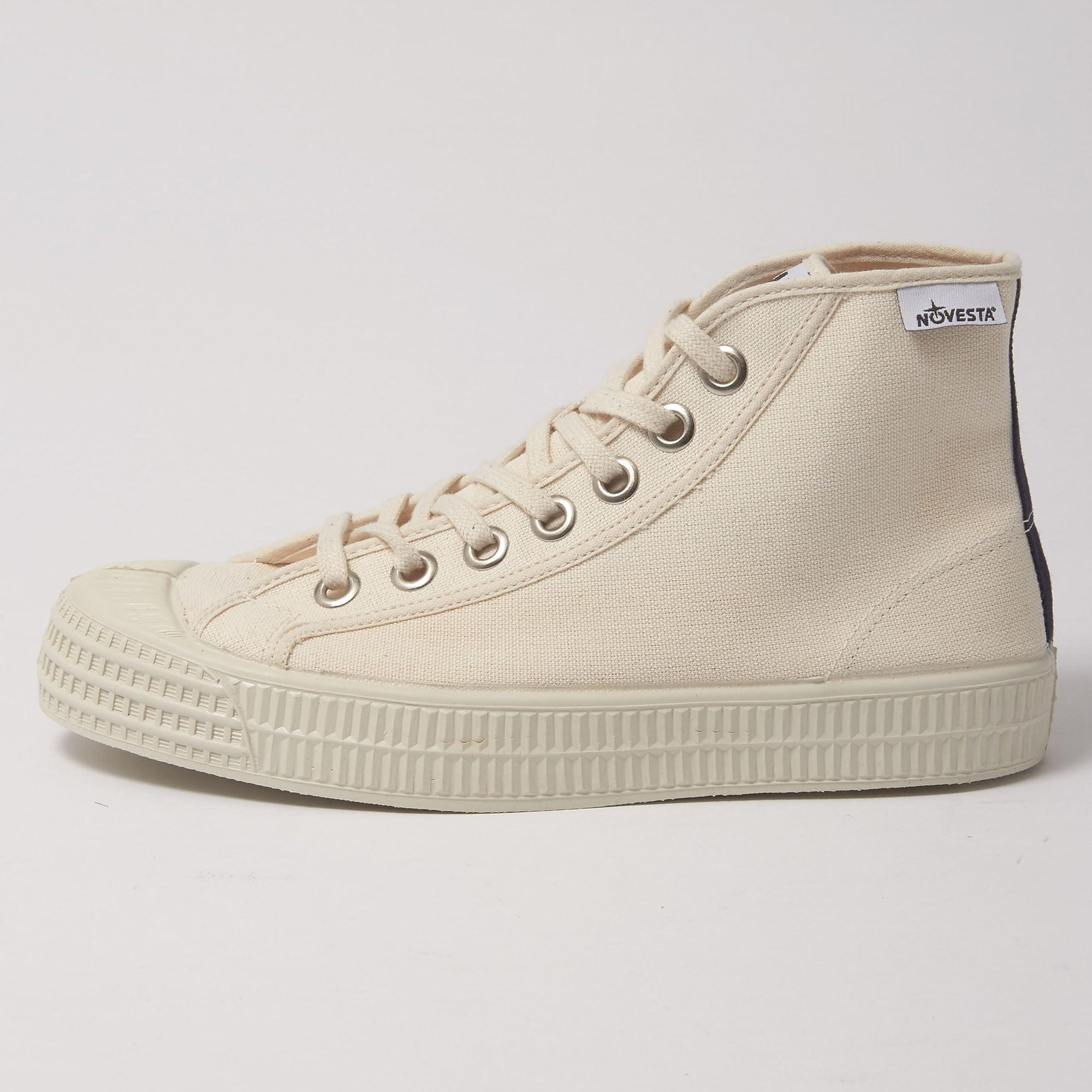 Star Dribble Hi Top Canvas Shoe - Beige