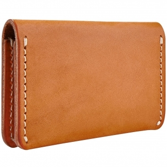 Vegetable-Tanned Leather Card Holder