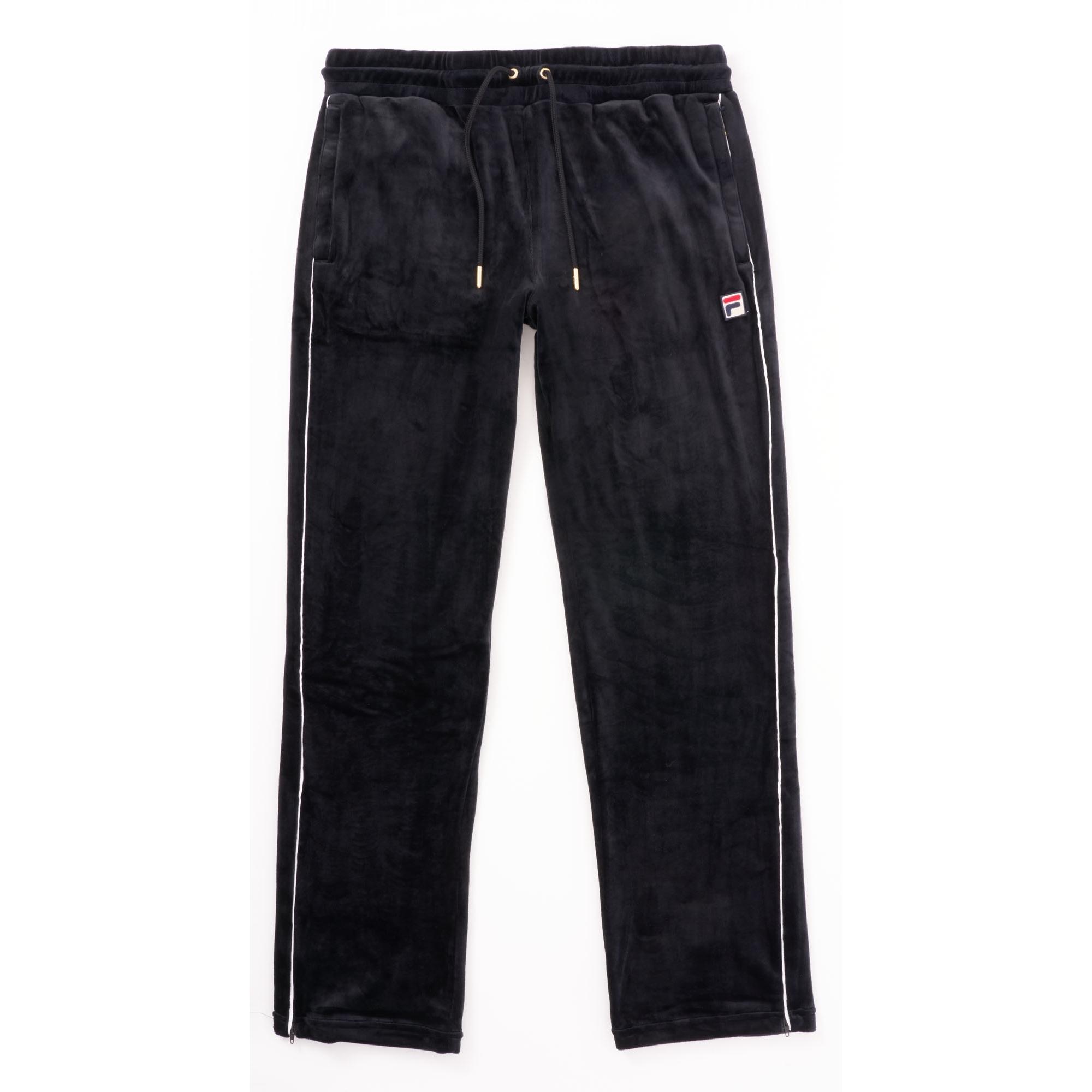 8af2bc13795 Fila Vintage Velour Cyrus Track Pants | Black | US Stockists