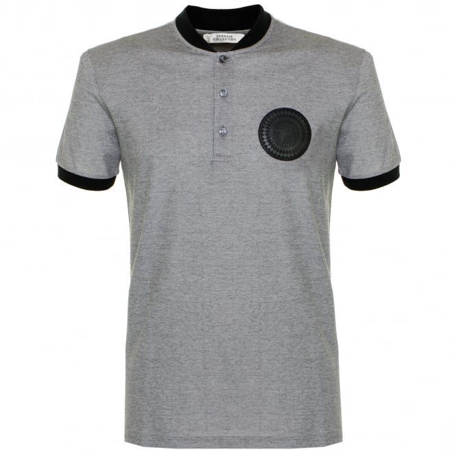 Versace Collection Versace Banana Collar Grey polo Shirt V800731