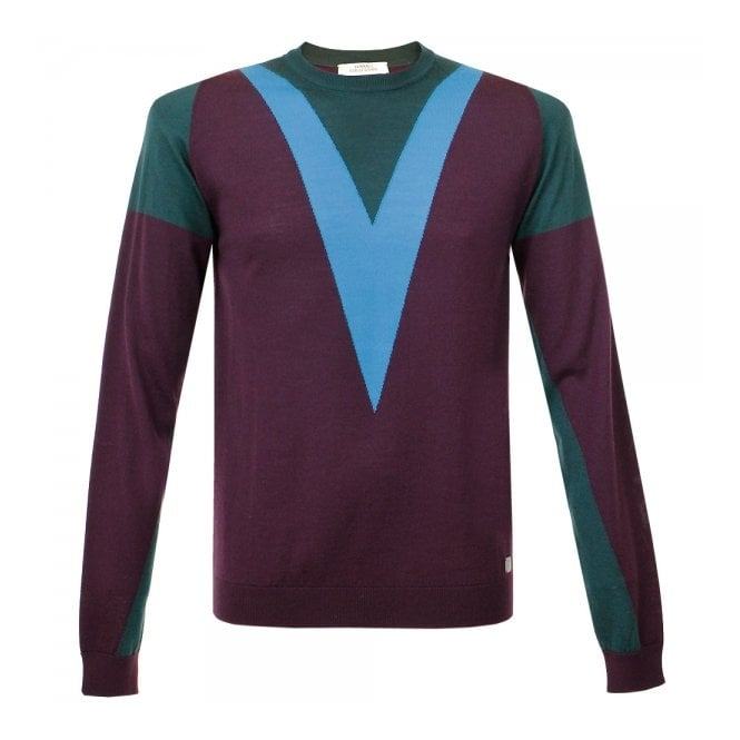 Versace Collection Versace Foresta Plum Knit Jumper V700541