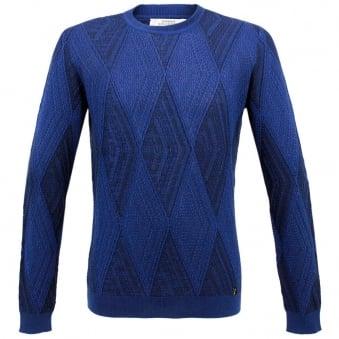 Versace Girocollo Blue  Jumper V700371