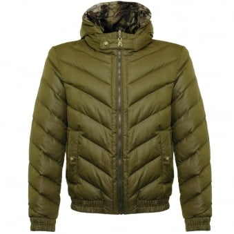 Versace Giubbotto Reversible Camo Green Jacket BU50221