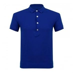 Versace Lion head Blue Polo Shirt BU90207