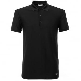 Versace Pique Black Polo Shirt v800543
