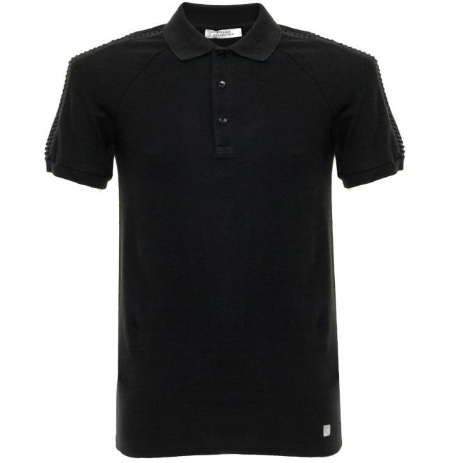 Versace Collection Versace Pique Black Polo Shirt V800729