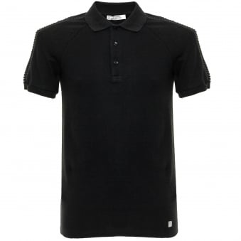 Versace Pique Black Polo Shirt V800729