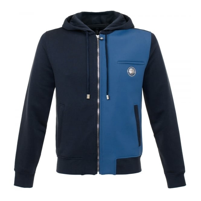 Versus Versace Hooded Two Tone Zip Sweatshirt Jacket BU90257