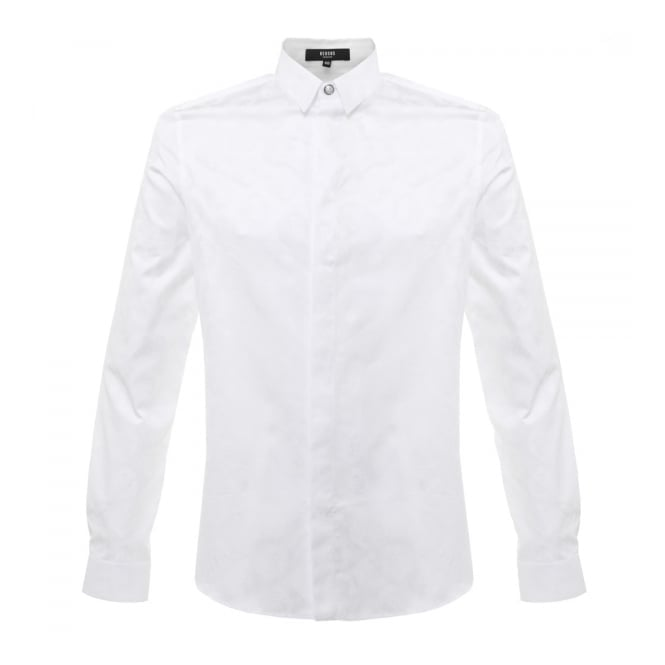mens white versace shirt