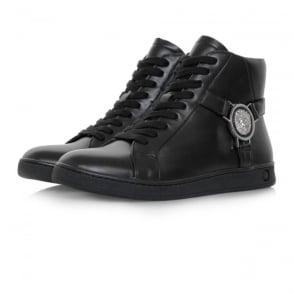 Versus Versace Lionshead Hi Top Black Shoe FSX006C