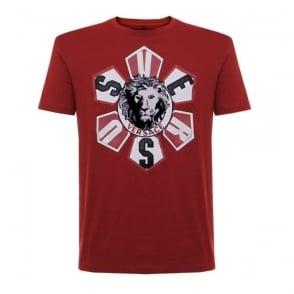 Versus Versace Lionshead Red T-Shirt BU90271