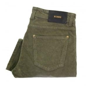 Versus Versace Salvia Corduroy Trousers BU40213